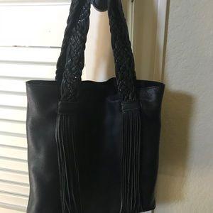 Rebecca Minkoff Wendy leather braided fringe tote